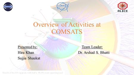 Overview of Activities at COMSATS Presented by: Team Leader: Hira KhanDr. Arshad S. Bhatti Sujjia Shaukat.