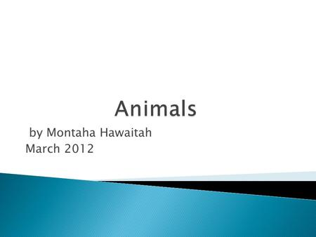By Montaha Hawaitah March 2012.  Today is Monday.