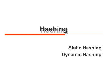 Hashing Static Hashing Dynamic Hashing. – 2 – Sungkyunkwan University, Hyoung-Kee Choi © Symbol table ADT  We define the symbol table as a set of name-attribute.