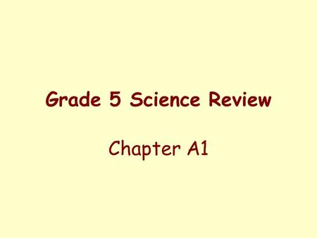 Grade 5 Science Review Chapter A1. Words To Know minerals hand lens electron microscope microscope crystals cleavage luster scale.