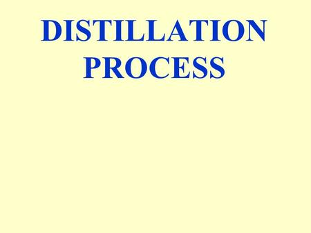 DISTILLATION PROCESS. Distillation:- An important organic process used to separate two or more than two liquids having different boiling points from a.
