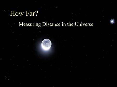 Measuring Distance in the Universe
