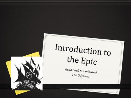 Introduction to the Epic Read book ten minutes! The Odyssey!