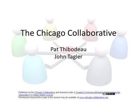 The Chicago Collaborative Pat Thibodeau John Tagler Published by the Chicago Collaborative and licensed under a Creative Commons Attribution-NonCommercial-