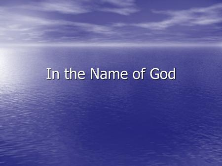 In the Name of God. Topics for discussion Authors ( Pysically ! ) - Title page - Different journal formats.