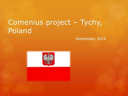 Comenius project – Tychy, Poland September, 2014.