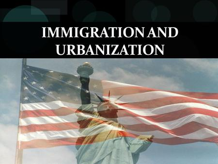 IMMIGRATION AND URBANIZATION. New Immigrants New Immigrants= Southern and Eastern Europeans during 1870s until WWI.  Came from Ireland, Germany, Italy,