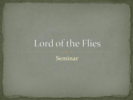 Seminar. Thesis Introduction to government Democracy in LOTF Pros of Democracy Cons of Democracy Fascism in LOTF Cons of Fascism Pros of Fascism Debate.