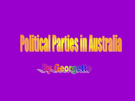 Beliefs: That they support primary industries and their focus on agricultural trade. Principals: The National Party of Australia is a conservative political.
