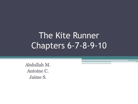 kite runner chapter 9 The kite runner chapters 10-13: summary, literary devices, analysis  the kite runner chapters 6-9: summary, literary devices, analysis  the kite runner chapters 1-5: summary, themes, analysis  amir analysis baba general taheri kamal literary devices soraya summary the kite runner chapters 10-13 share this post share with facebook.