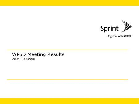 WP5D Meeting Results 2008-10 Seoul. 2 IMT-Advanced Summary  IMT.EVAL Completed  Describes the methodology for evaluating IMT Advanced  Contained in.
