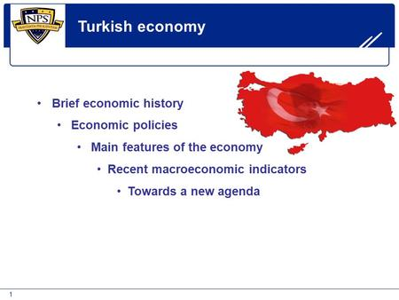 Turkish economy Brief economic history Economic policies