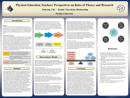 Postersession.com Purposes: Although it is believed that educational practitioners should use theory and research to improve their professions, physical.
