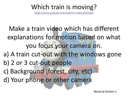 a) A train cut-out with the windows gone b) 2 or 3 cut-out people