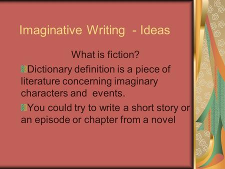 "ride on an imaginative piece essay Imaginative writing the second person is the basic point of view of a piece only when the ""you"" is a documents similar to imaginative writing ch3."