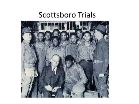 Scottsboro Trials. The Accusers… Victoria Price: – lower class white woman, age 21 – An active prostitute who liked to drink; daughter of a widow who.
