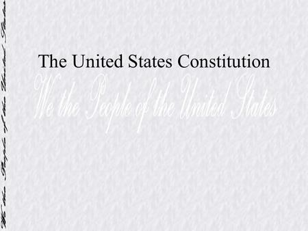 The United States Constitution. Introduction to the U.S. Constitution Written in Philadelphia Original intent was to revise the Articles James Madison.