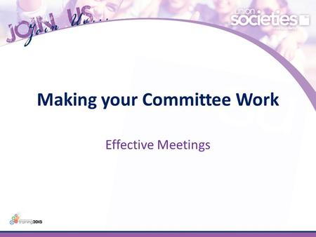 Making your Committee Work