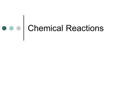 Chemical Reactions. Writing Chemical Equations 11.1.