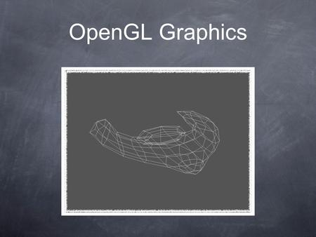 OpenGL Graphics. What Is OpenGL? 1. C-Based graphics framework. 2. Open specification. 3. State machine. 4. Rendering pipeline. 5. A whole load of maths.