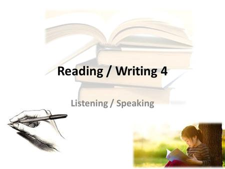 Reading / Writing 4 Listening / Speaking. 30 professions! How many can you write?