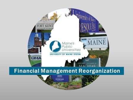 Financial Management Reorganization. Strategic Integration Target 2: Develop and implement a comprehensive financial management structure for the entire.