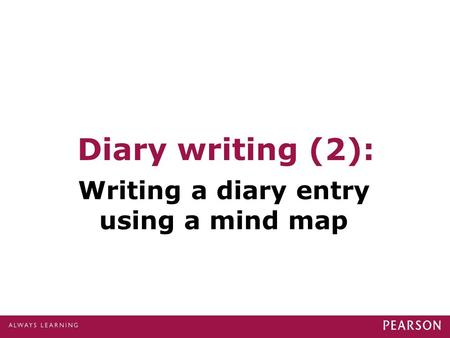 Diary writing (2): Writing a diary entry using a mind map.