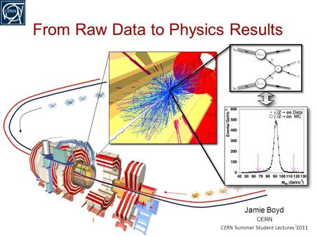 Jamie Boyd CERN CERN Summer Student Lectures 2011 From Raw Data to Physics Results 1.
