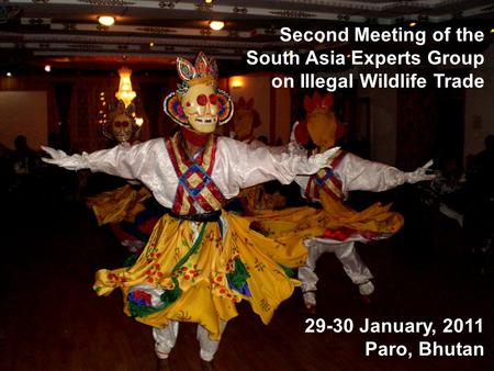 Second Meeting of the South Asia Experts Group on Illegal Wildlife Trade 29-30 January, 2011 Paro, Bhutan.