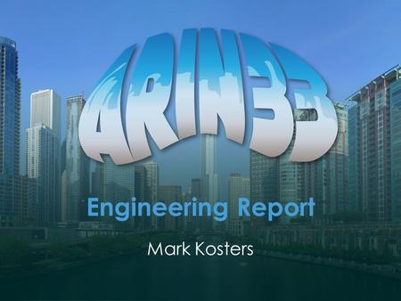 Engineering Report Mark Kosters. Staffing Operations – 7 operations engineers + 2 managers (AT FULL STRENGTH) Development – 8 programmers + manager (AT.