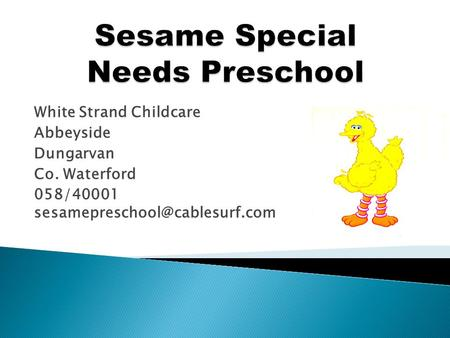 White Strand Childcare Abbeyside Dungarvan Co. Waterford 058/40001