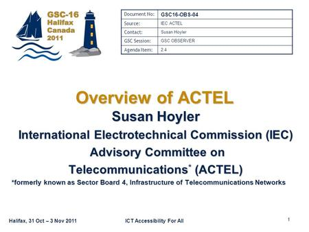 Overview of ACTEL Susan Hoyler