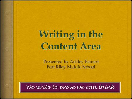 Writing in the Content Area