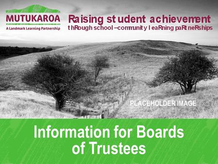 Information for Boards of Trustees PLACEHOLDER IMAGE.