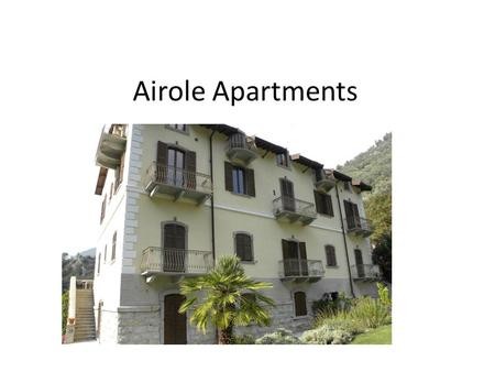 Airole Apartments. Airole SOLD SOLD* *More garages available for purchase AVAILABLE.
