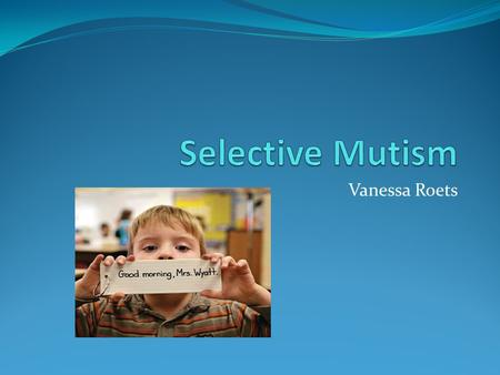 Vanessa Roets. Which Disability Category? Selective mutism is a communication disorder that is generally categorized under Other Health Impairment (OHI),