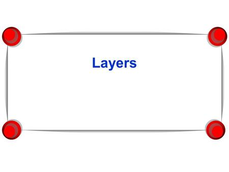 Layers. Creating Layers  By default-one layer Create unlimited amount of layers  Objects are placed on a sublayer called a  Stacking order Each object.