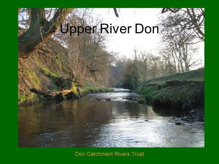 Don Catchment Rivers Trust Upper River Don. Don Catchment Rivers Trust Lower River Don.