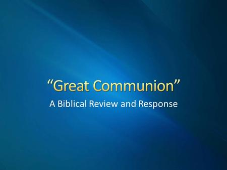 A Biblical Review and Response. Douglas Foster (ACU Professor) and the Disciples of Christ Historical Society are calling upon members of Churches of.