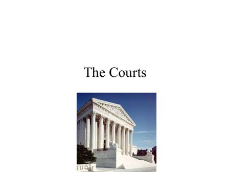 The Courts. Latin Terminology Stare decisis Writ of certiorari Amicus curiae Writ of mandamus Writ of habeas corpus.