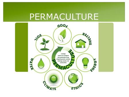 PERMACULTURE. Permaculture Definition  Permaculture is the conscious design and maintenance of agriculturally productive systems which have the diversity,