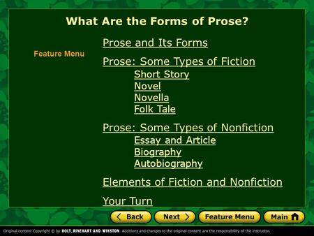 What Are the Forms of Prose?