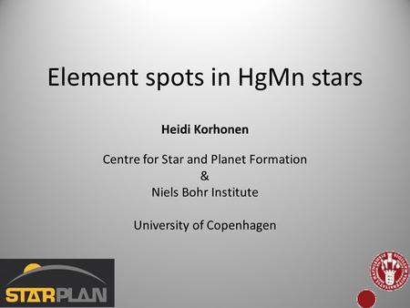 Element spots in HgMn stars