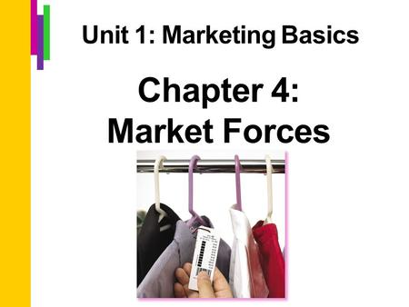 Chapter 4: Market Forces Unit 1: Marketing Basics.
