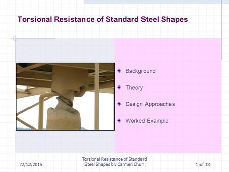 Torsional Resistance of Standard Steel Shapes