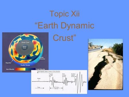 "Topic Xii ""Earth Dynamic Crust"" I. Evidence of Crustal Movement: A. Original Horizontality: assumes that sedimentary rock is deposited in flat layers."