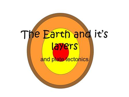 The Earth and it's layers and plate tectonics. Inner Core - solid, hot Nickel & Iron minerals.