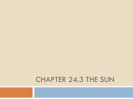 CHAPTER 24.3 THE SUN. Learning Targets 1.Describe the layers of the Sun 2.Describe the surface features of the Sun.