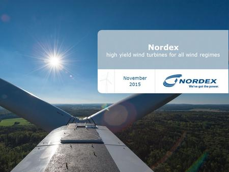 Nordex high yield wind turbines for all wind regimes