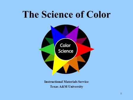 Instructional Materials Service Texas A&M University